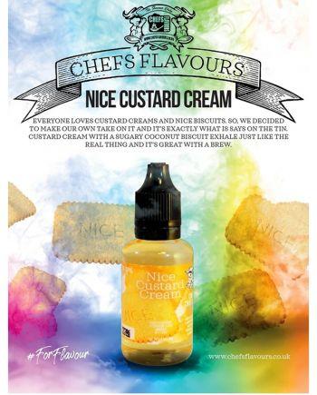 Chefs Flavours Nice Custard Cream