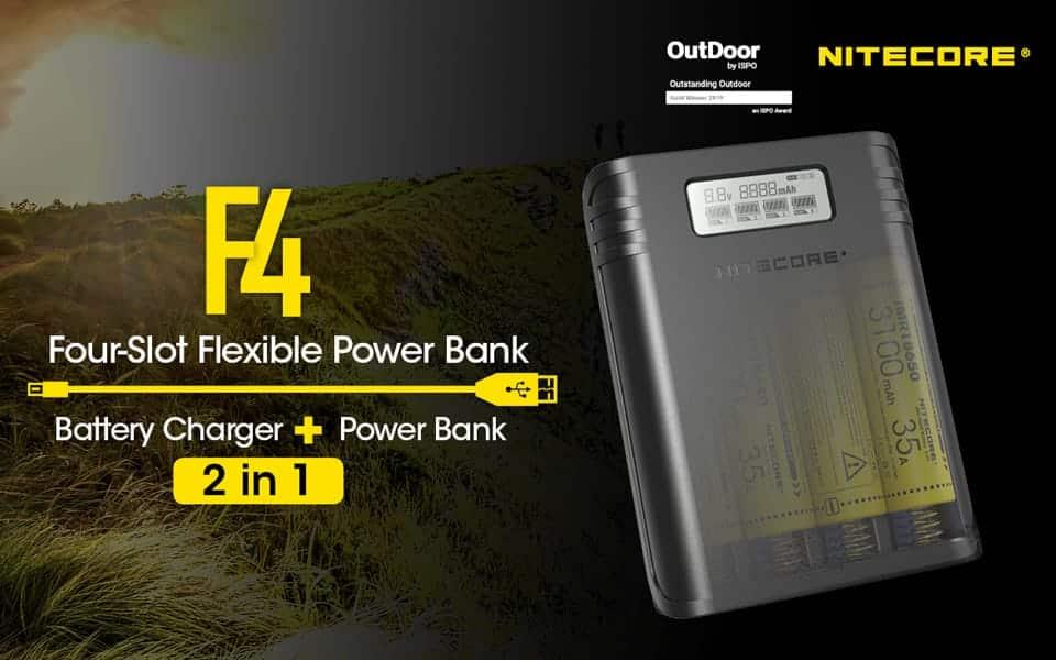 Nitecore Ladegerät F4 power bank