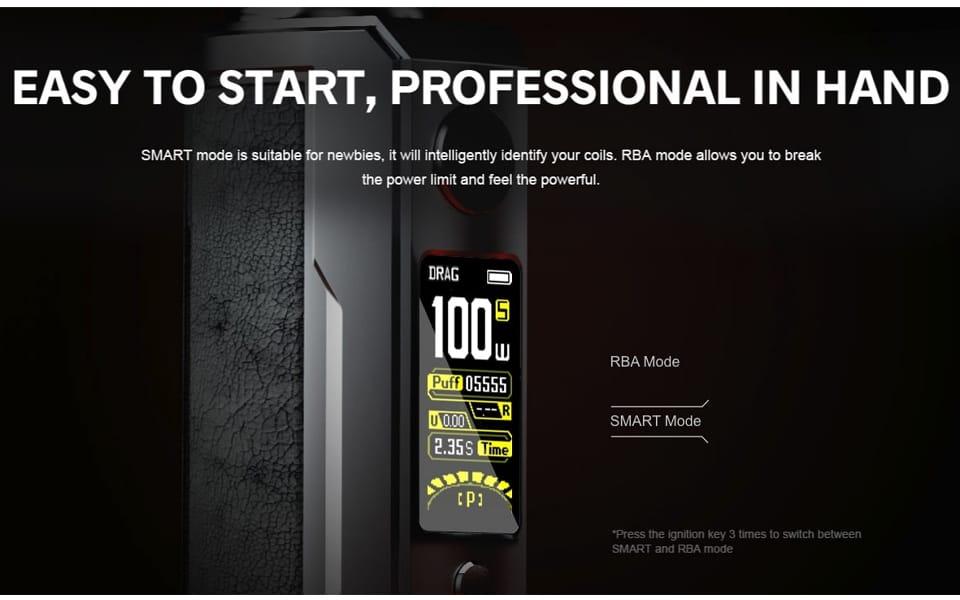 VooPoo Akkuträger Drag X Plus Professional Edition