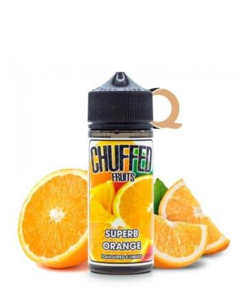 Chuffed Fruits Superb Orange je 100ml shortfill e-tekočina z okusom sočne pomaranče.